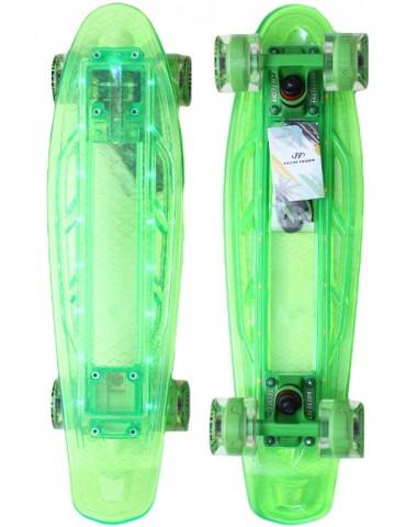 Миникруизер  22  светящийся прозрачный зеленый