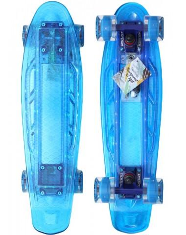 Миникруизер  22  светящийся прозрачный голубой
