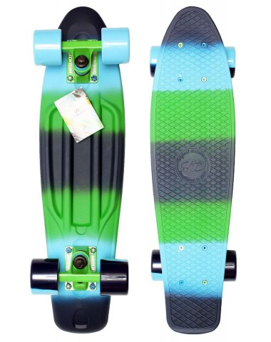 "Миникруизер Multicolor 22""6"" Abec 7 chrome green"