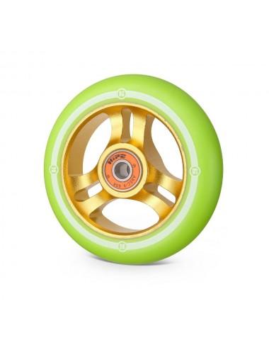 Колесо Hipe 3W 100мм золотой/св.-зеленый