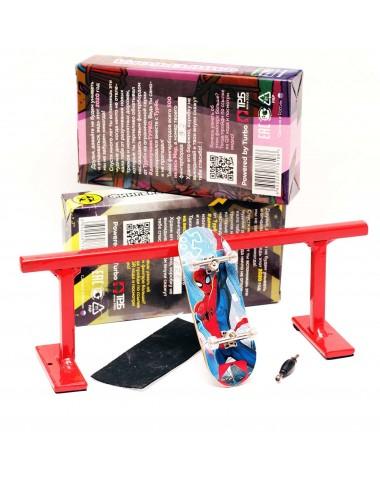 Фингерборд П10 + Перилка (комплект) Человек Паук