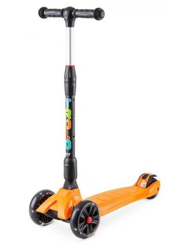 Самокат Rapid со светящимися колесами Оранжевый