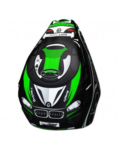 Мешок-рюкзак-подушка, спинка для тюбингов ST4, Small Rider Bags Машинки (BM зеленый)