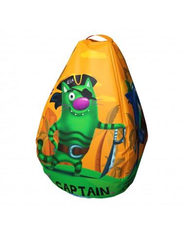 Мешок-рюкзак-подушка, спинка для тюбингов ST4, Small Rider Bags Пираты (оранжевый)