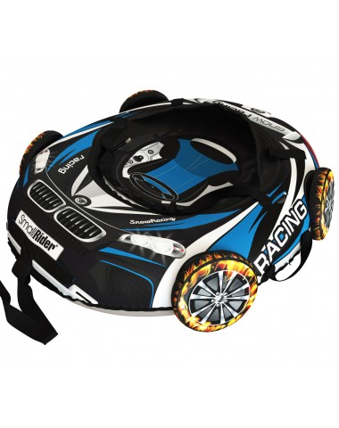 "Тюбинг Small Rider Snow Tubes 4 (""Машинки XL"" с колесами) (ВМ черно-голубой)"
