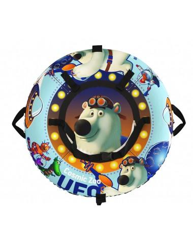 "Тюбинг Small Rider Snow Tubes 4 (""UFO  100х100 см"")  (синий медвежонок)"