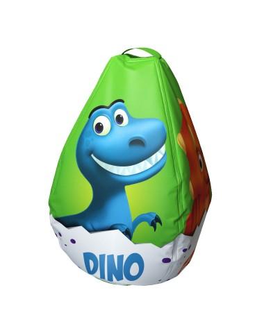 Мешок-рюкзак-подушка, спинка для тюбингов ST4, Small Rider Bags Динозаврики (зеленый)