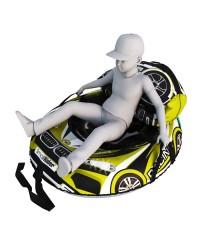 Мешок-рюкзак-подушка, спинка для тюбингов ST4, Small Rider Bags Машинки (BM желтый)