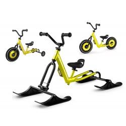 Беговел-снегокат с лыжами, обычными и тренировочными колесами Small Rider Roadster - X Ultimate (зеленый)