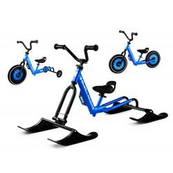 Беговел-снегокат с лыжами, обычными и тренировочными колесами Small Rider Roadster - X Ultimate (синий)