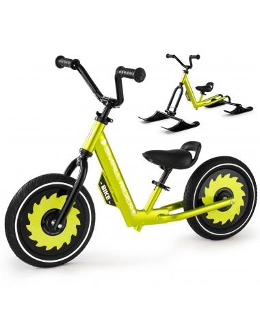 Беговел-снегокат с лыжами и колесами Small Rider Roadster - X Combo (зеленый)