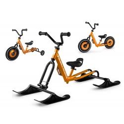 Беговел-снегокат с лыжами, обычными и тренировочными колесами Small Rider Roadster - X Ultimate (бронза)