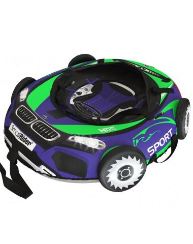 "Тюбинг Small Rider Snow Tubes 4 (""Машинки XL"" с колесами) (BM сине-зеленый)"