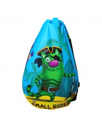 Мешок-рюкзак-подушка, спинка для тюбингов ST4, Small Rider Bags Пираты (голубой)