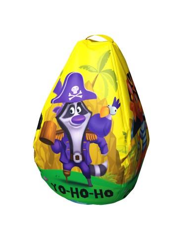 Мешок-рюкзак-подушка, спинка для тюбингов ST4, Small Rider Bags Пираты (желтый)