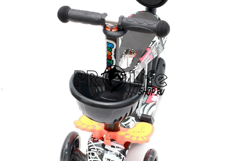 Самокат scooter  5в1 черно-белый