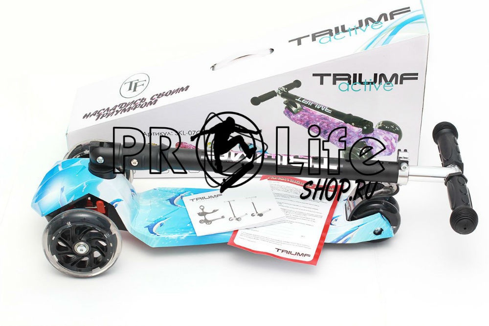 Самокат Triumf maxi plus print dolphin