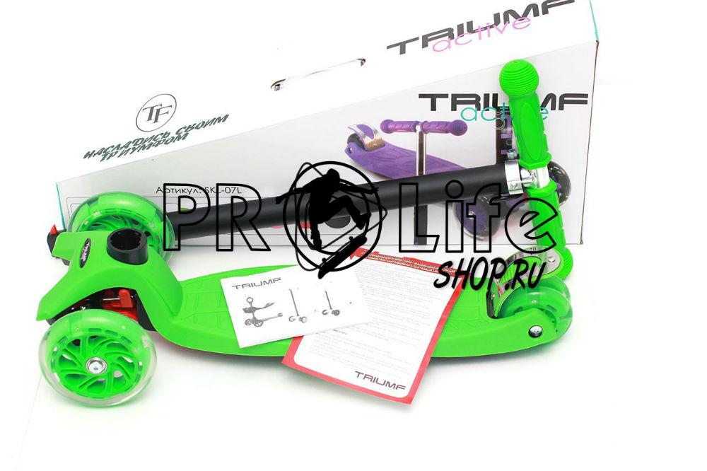 Самокат triumf  maxi flash  зеленый